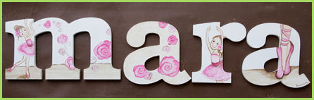 "10"" Themed Letter - Ballerina 1-"