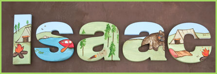 "10"" Themed Letter - Camping-"